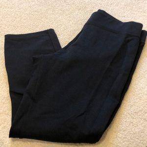 American Giant Crop Pant - Super Black - 6